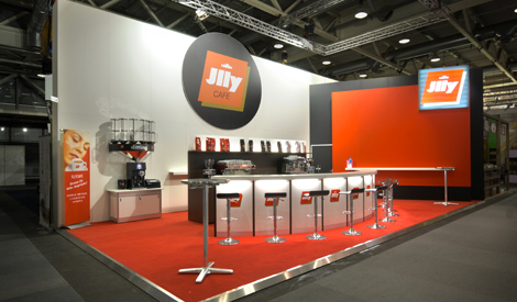 Messestand-Foto Illy Cafe